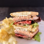 Salmon BLT with Chive Mayo