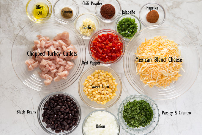 Ingredients for southwest egg rolls