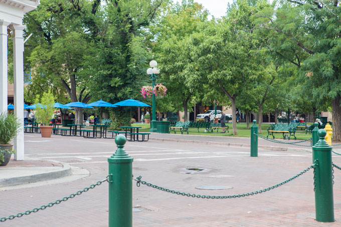 Center square in Old Town Santa Fe