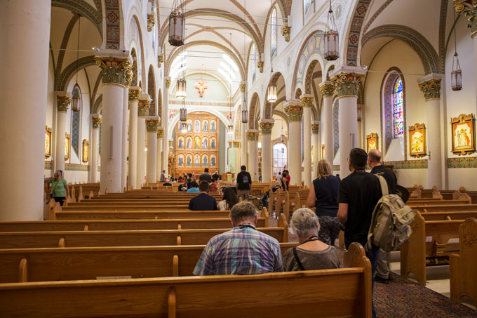 Inside the Cathedral Basilica of St. Francis of Assisi