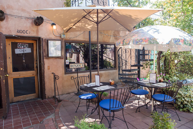 French bistro in Old Town Albuquerque