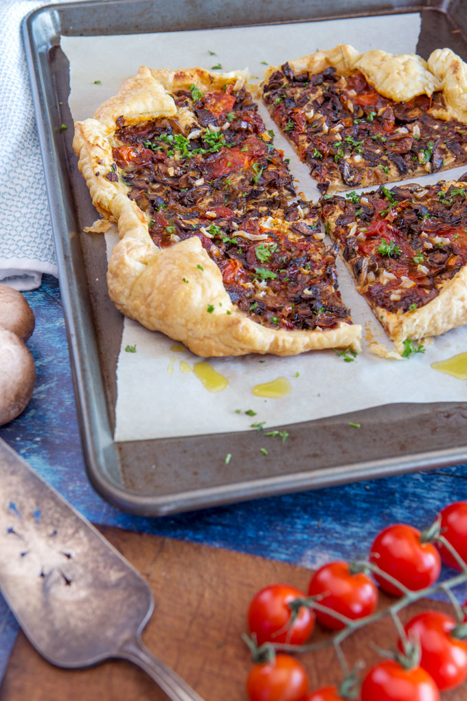 Easy Mushroom and Tomato Tart