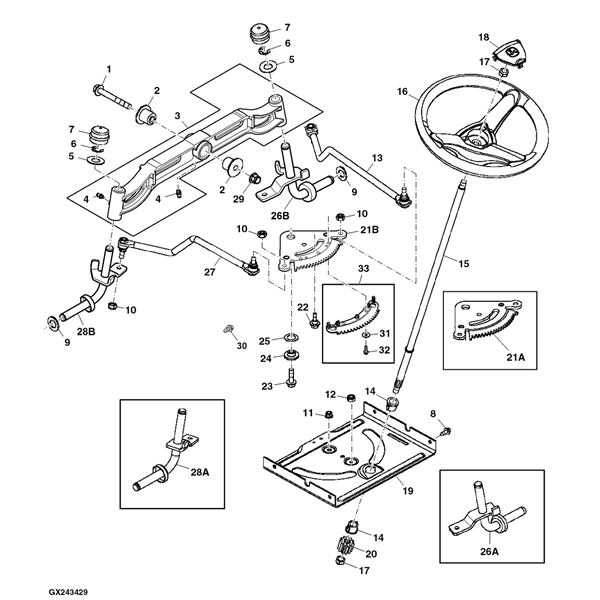 John Deere 125 Lawn Tractor Parts Diagram