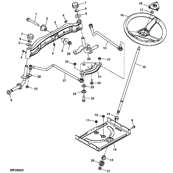 John Deere La105 Parts Diagram