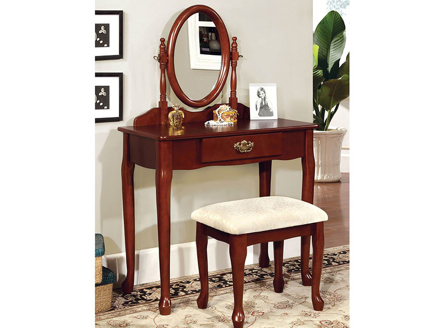 mildura cherry vanity set with stool shop for affordable home furniture decor outdoors and more