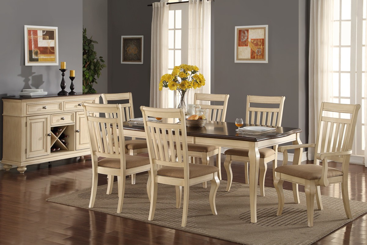 Wood Formal Dining Set In Cream Shop For Affordable Home