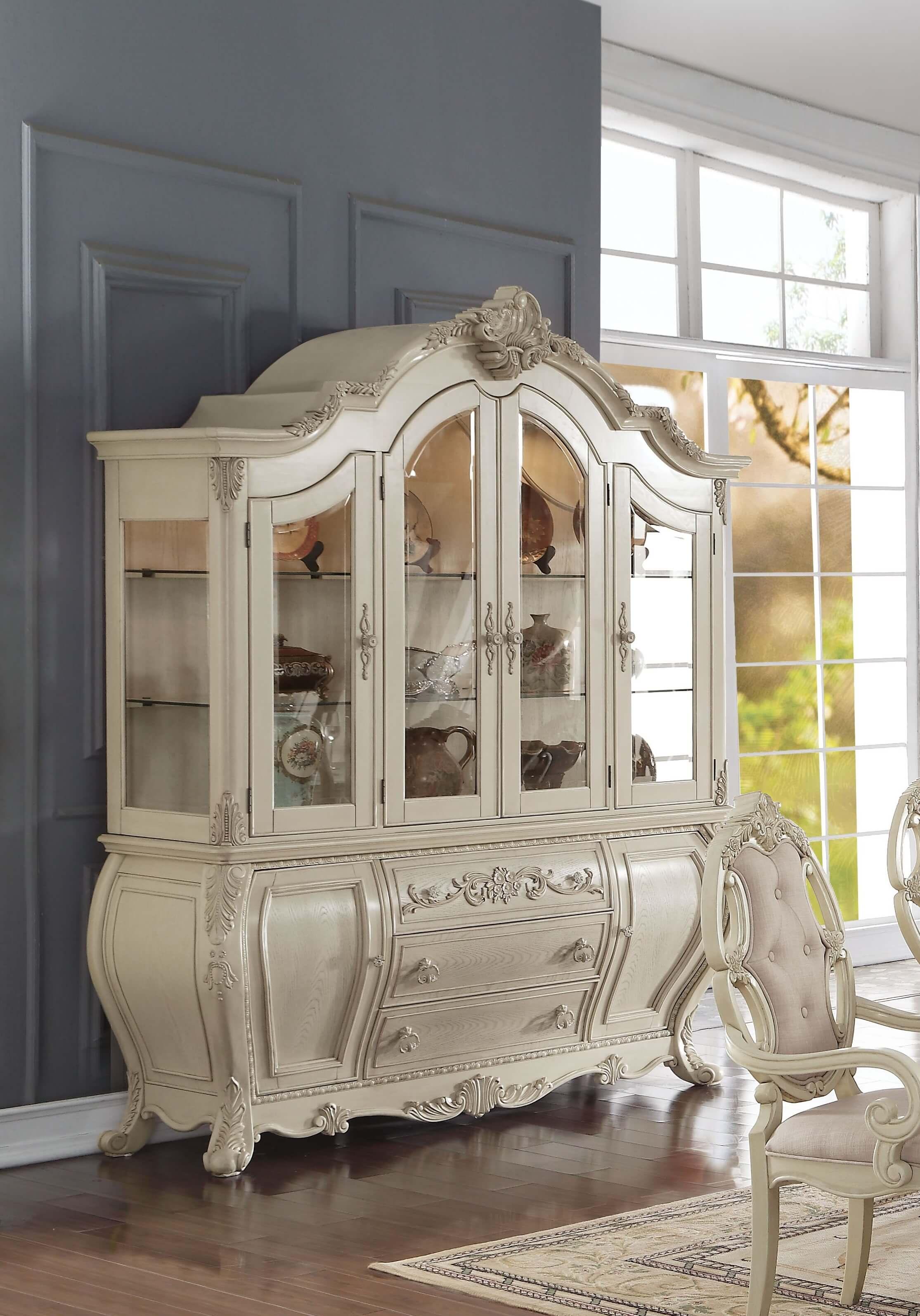 Ragenardus Antique White China Amp Hutch Shop For