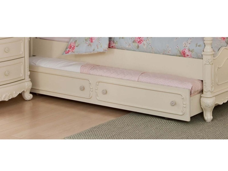 Cinderella White Twin Canopy Bed With Trundle   Shop for Affordable     Cinderella White Twin Canopy Bed With Trundle