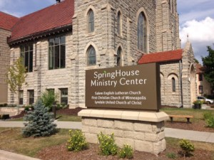 Exterior photo of SpringHouse Ministry Center building