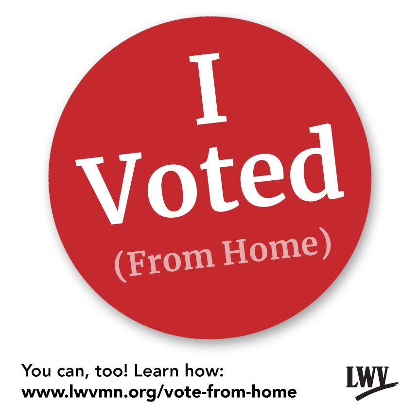 I Voted sticker from LWVmn.org
