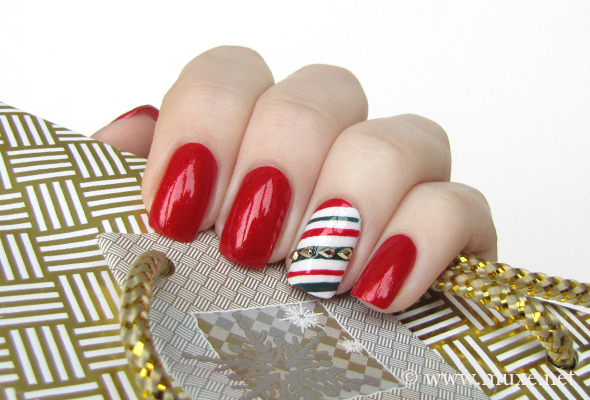 Candy Cane Stripes 3d Christmas Tree Nail Art: Christmas Nail Art Feat. OPI The Spy Who Loved Me