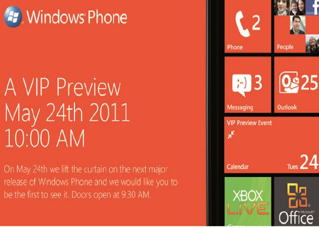 WindowsPhone7Mango Windows Phone 7.5 Mango, evento especial el 24 de mayo