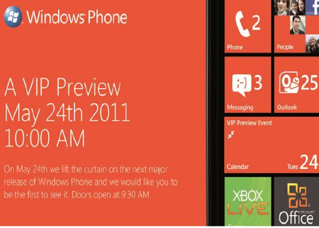 WindowsPhone7Mango Windows Phone 7.5 Mango, evento especial el 24 de mayo