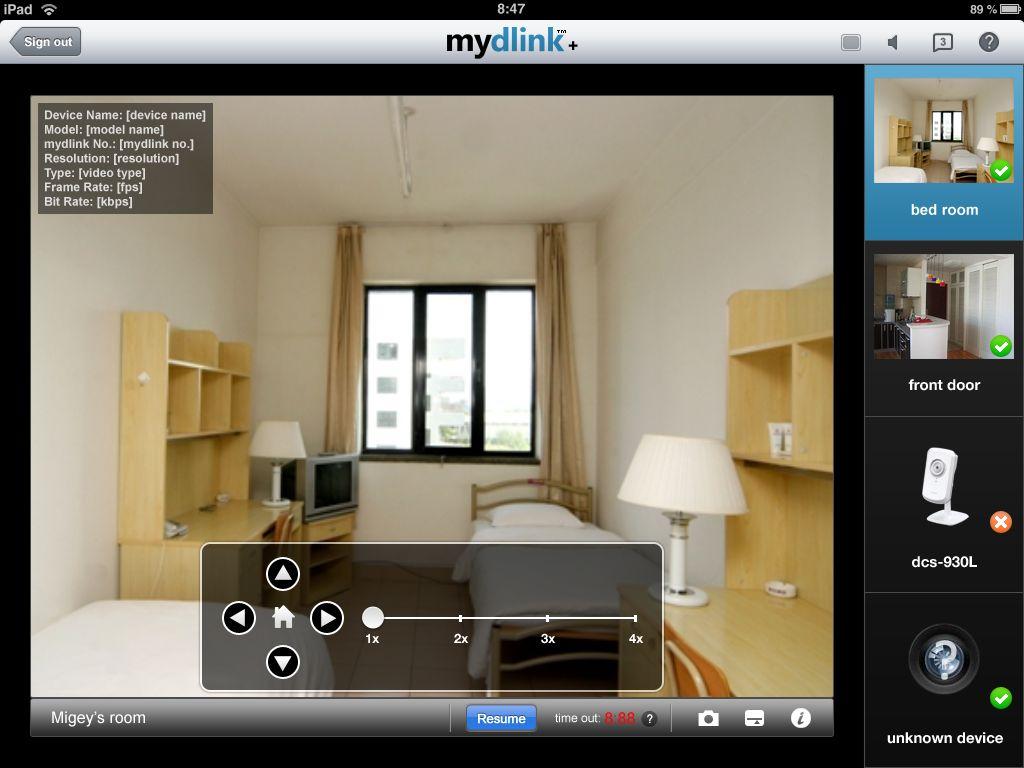 mydlink+2 mydlink+, videovigilancia de calidad profesional en tu tablet