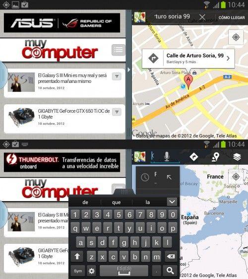 Note II Split 2 500x562 El Galaxy Note II recibe la actualización de pantalla dividida