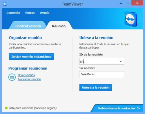 TeamViewer8 win TV MainDialogPresentation 500x395 TeamViewer 8, disponible