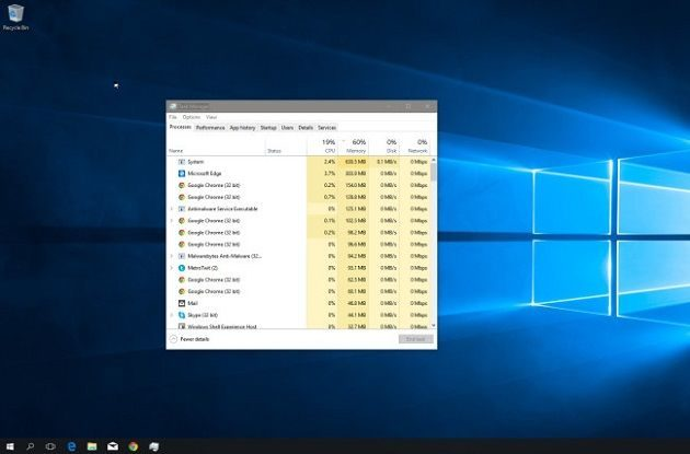Windows 10 parece consumir mucha RAM