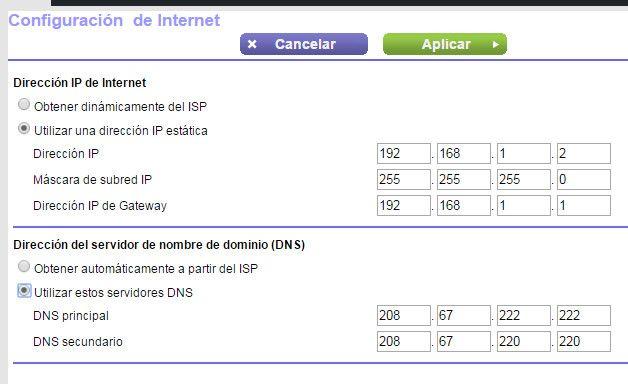 DNS alternativos