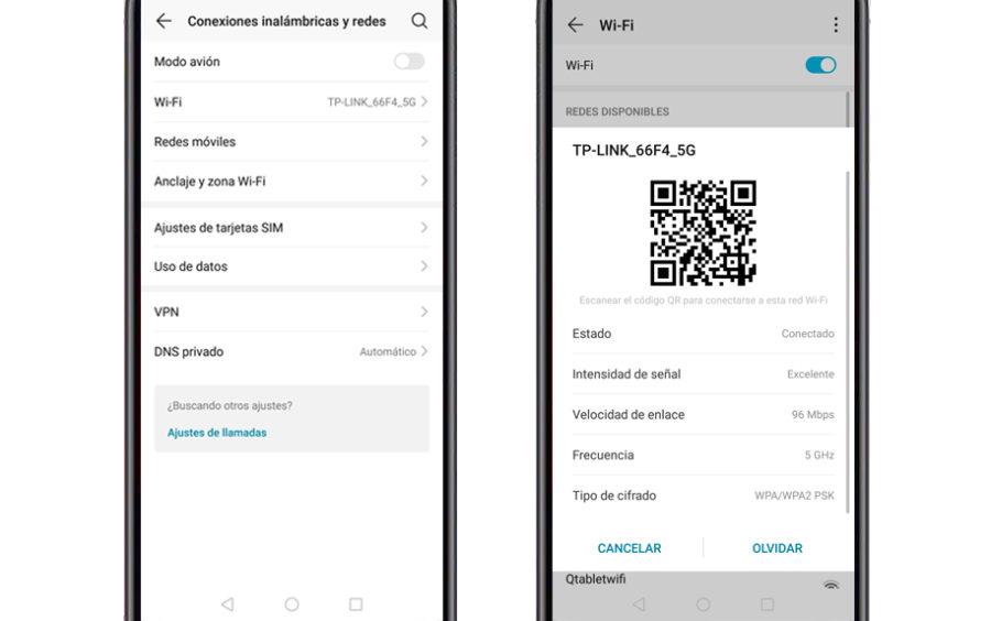 Compartir contraseña WiFi Android