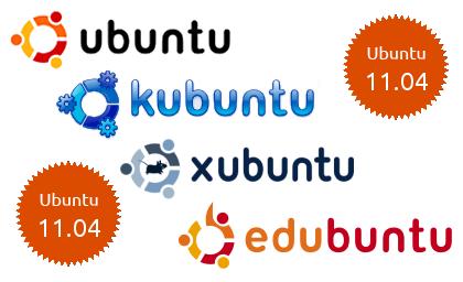 ubuntu family ¡Kubuntu, Xubuntu, Edubuntu, Ubuntu Studio y Mythbuntu 11.04 también están aquí!