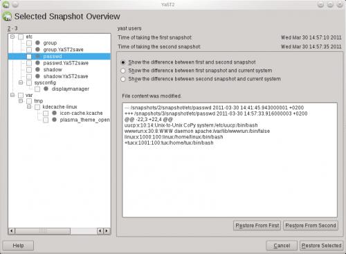 OpenSUSE 12.1 Snapper 500x367 Las novedades de openSUSE 12.1