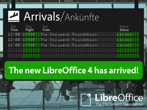 libreoffice 4 0 500x375 LibreOffice 4.0 disponible