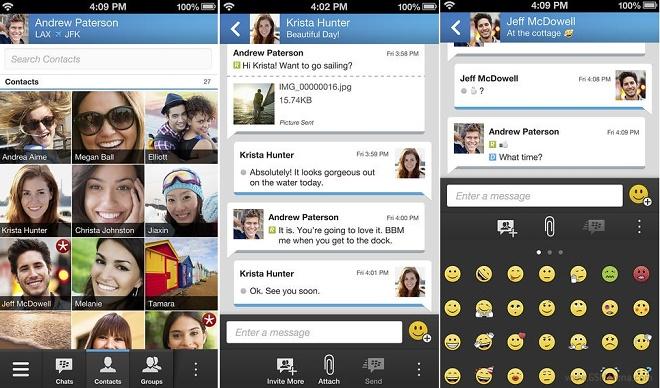 Así es la última versión del BlackBerry Messenger