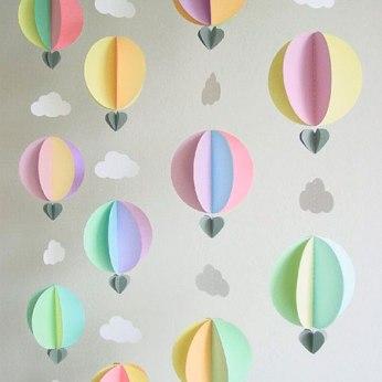 Decoración para Baby Shower con globos aeroestáticos