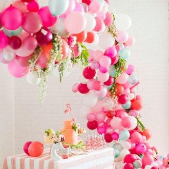 Manualdiades para Baby Shower con globos para niña
