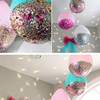 Manualidades para Baby Shower con globos pintados