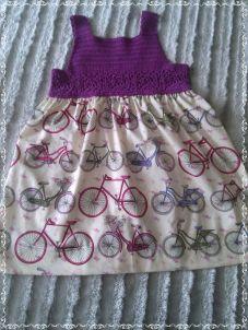 Manualidades en tela para bebés vestido ganchillo
