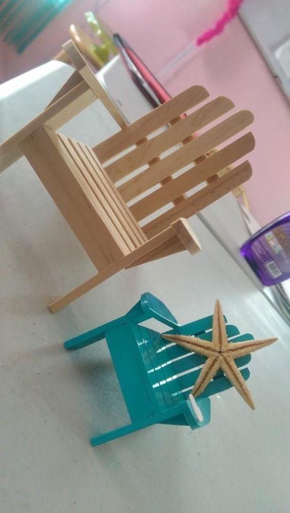 Manualidades de madera para el día del padre sillas