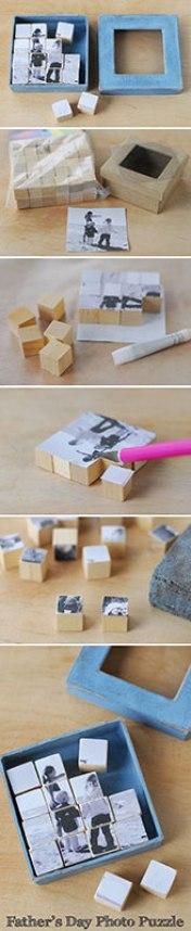 Manualidades de madera para el día del padre puzzle