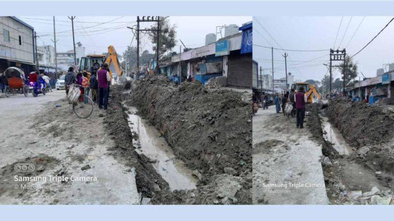 Muzaffarpur Laxmi Chowk Dadar Road Contruction