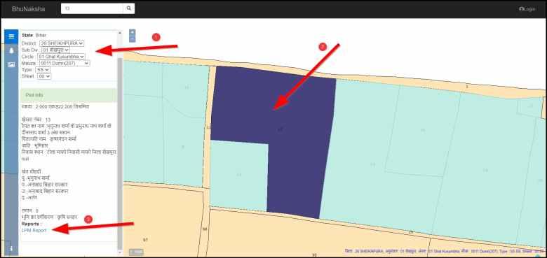 Land Parcel Map Online Bihar