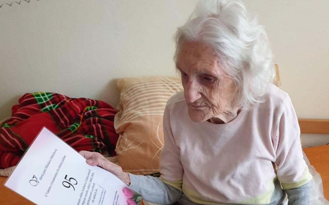 Paní Miroslava oslavila 95. narozeniny