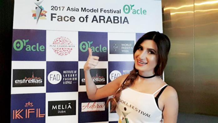 Pakistani Model 'Diya Ali' Wins Runner Up 2 At The Face of Arabia 2017