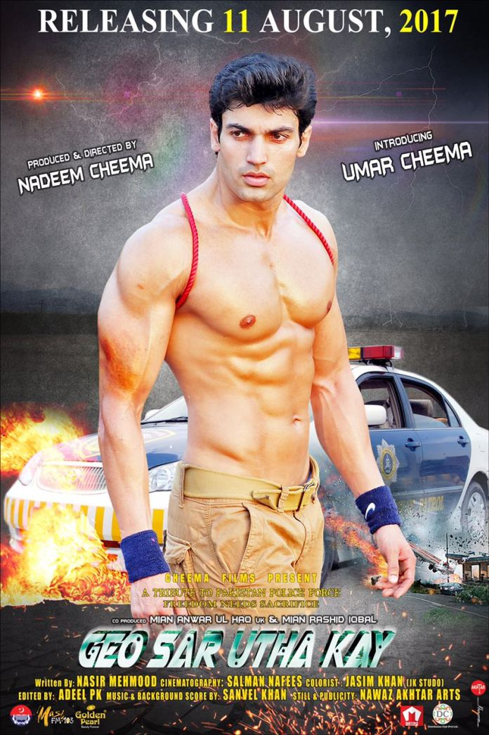 Geo Sar Utha Kay New Poster Featuring Umar Cheema is Too Hot To Handle