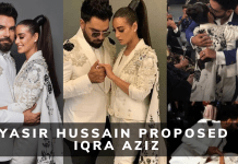Yasir Hussain Proposed Iqra Aziz in LSA 2019