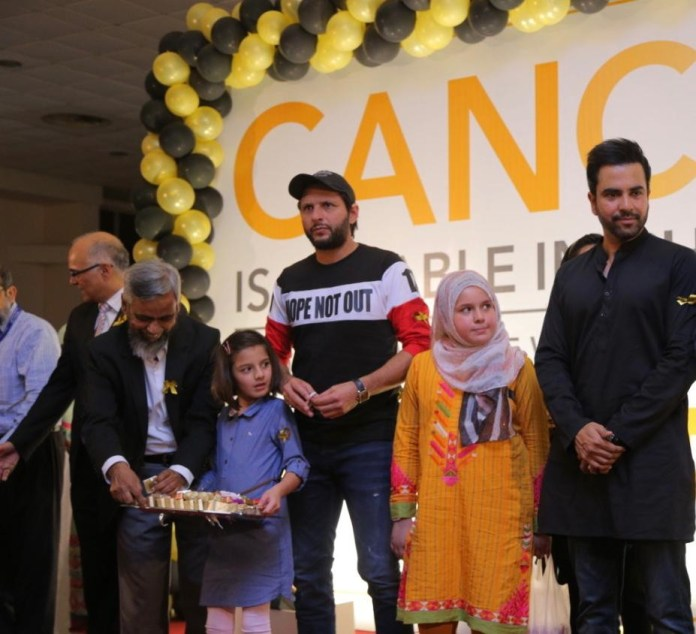 Junaid Khan & Shahid Afridi attend childhood Cancer survivors day celebrations at Indus Hospital