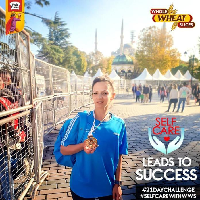 Peek Freans Whole Wheat Slices Self-Care Ambassador Sehr Beg Participated in the 42K Istanbul Marathon