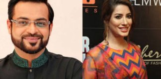 Aamir Liaquat and Mehwish Hayat