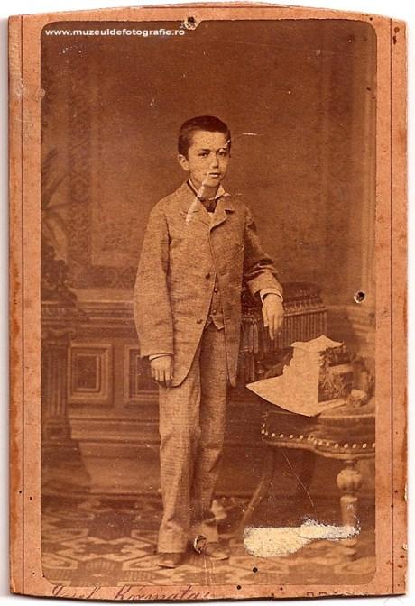 Cleonte? Gheorghiu fotografiat de Josef Kosmata in 1885
