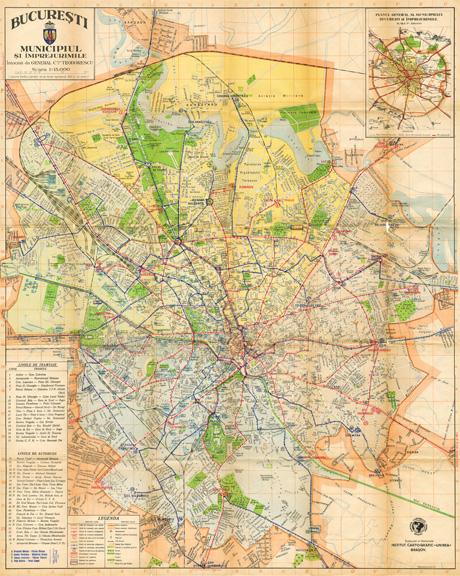 O Harta A Bucurestiului Interbelic Update Muzeul De Fotografie