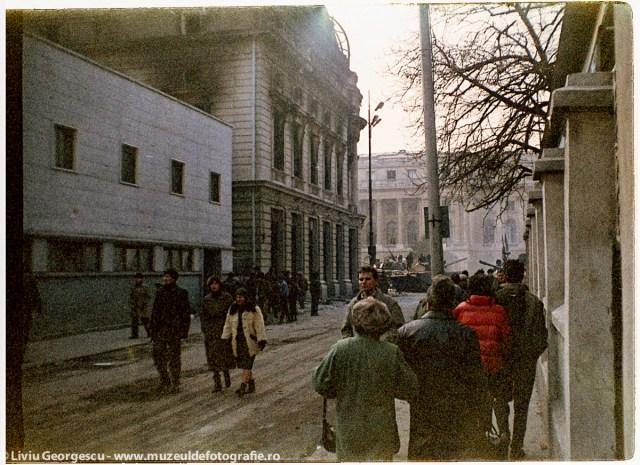 Strada C.A. Rosetti - 24.12.1989 - Foto:  Liviu Georgescu