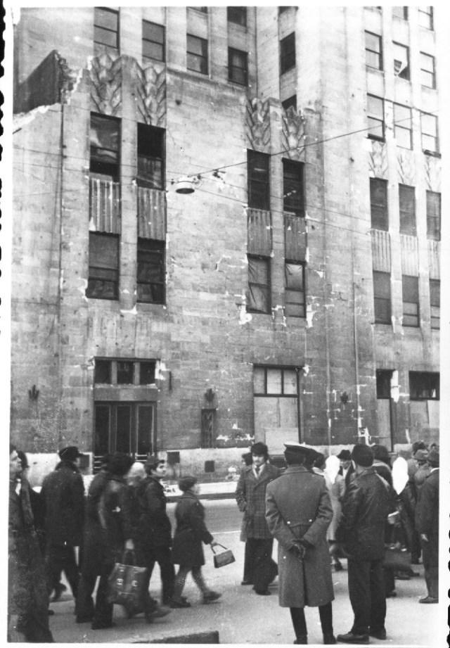 """""""Palatul Telefoanelor avariat in urma cutremurului. Bucuresti 7 martie 1977"""""""