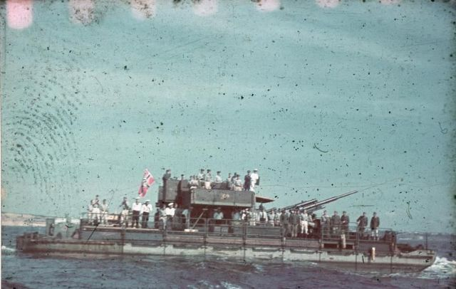 Siebel Ferry with 8.8cm Flak Gun, Black Sea