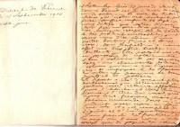 Unul dintre caietele jurnalului manuscris al Irinei Mavrocordat, soția diplomatului român Edgar Mavrocordat (care a înmânat la 14/27 august, ora 21, ministrului de externe austro-ungar, declarația de război a României). Caietul începe la 12 septembrie 1916, când familia diplomatului a părăsit Viena. (Achiziție de la colecționarul bucureștean Nicolae Vasilescu-Capsali, 1979, nr. inv. 494 Doc.).