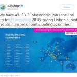 """ЕКСКЛУЗИВНО: Македонија сепак ќе учествува на """"Евровизија"""" 2018"""