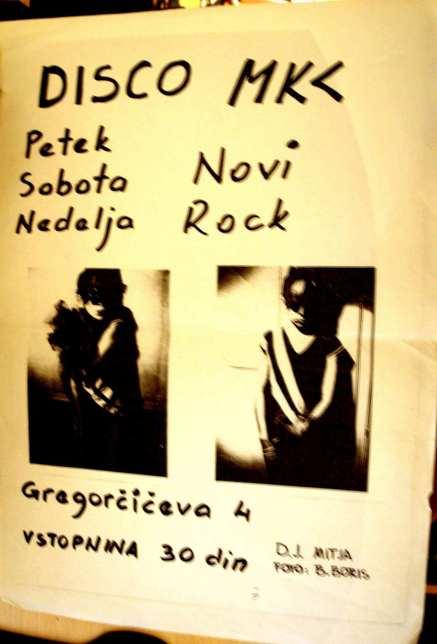 plakat Disco MKC (Arhiv: Boris Bradač)